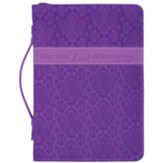 Hope in the Lord Bible Cover, Purple, X-Large
