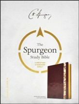 CSB Spurgeon Study Bible, Burgundy Marbled LeatherTouch