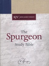 KJV Spurgeon Study Bible, navy/tan cloth over board
