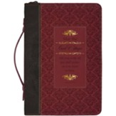 Romans 15:13 Bible Cover, Black and Burgundy, Medium