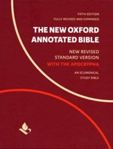 The New Oxford Annotated Bible with  Apocrypha: New Revised Standard Version Black Genuine Leather