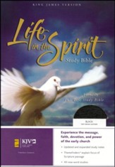 KJV Life in the Spirit Study Bible, Top Grain Leather, Black (Previously titled The Full Life Study Bible)