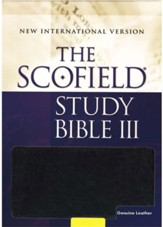 The Scofield Study Bible III, NIV, Black Genuine Leather Indexed 1984