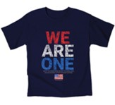We Are One, Flag, Shirt, Navy Blue, Youth Large