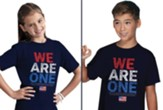 We Are One, Flag, Shirt, Navy Blue, Youth Medium