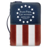 Stand Firm, US Flag, Bible Cover, Large