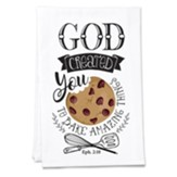 God Created You to Bake Amazing Things Tea Towel