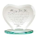 Marriage Takes Three Glass Heart