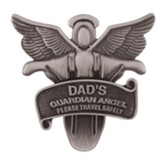 Dad's Guardian Angel Visor Clip