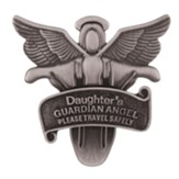 Daughter's Guardian Angel Visor Clip