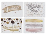Metallic Accents, Glitter, Graduation Cards, Box of 12