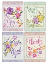 Floral Sprays Thank You Cards, Box of 12