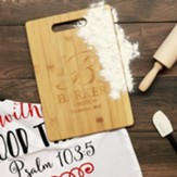 Personalized, Bamboo Cutting Board, with Handle,  Monogram