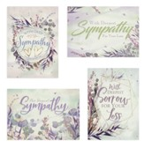 Trendy Watercolor Grass Sympathy Cards, Box of 12