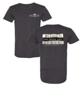 Pastor, Blessed Are Those Who Serve Long Body Shirt, Gray, X-Large
