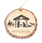 Personalized, Barky Ornament, Nativity Scene, Last Name