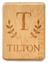 Personalized, Maple Plaque, Monogram, Small