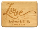 Personalized, Maple Plaque, Love, Small