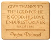 Personalized, Maple Plaque, Give Thanks, Large