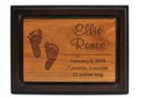 Personalized, Cherry Plaque, Two Toned, Baby, Small