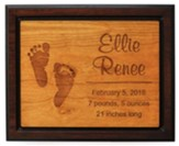 Personalized, Cherry Plaque, Two Toned, Large, Baby