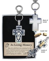 Cross Locket Keychain