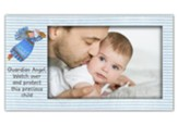 Guardian Angel Striped Photo Frame, Blue