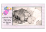 Guardian Angel Striped Photo Frame, Pink
