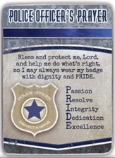 Police Officer's Prayer Metal Plaque