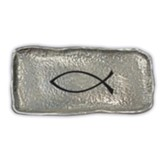 Ichthus Hammered Metal Trinket Dish
