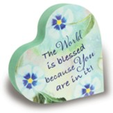 You Are An Amazing Woman Floral Heart Block