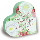 You Are An Amazing Grandma Floral Heart Block