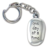 One Day At A Time Thumb Stone Keyring
