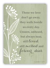 Those We Love Don't Go Away Metal Prayer Card
