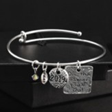 2019 The Places You'll Go Graduation Bracelet, Pewter