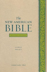 The New American Bible, Genuine Leather, Black,      Large Print, Revised Edition - Imperfectly Imprinted Bibles