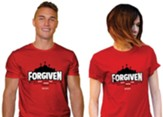Forgiven, Jesus Fought the Battle, Shirt, Red, Small