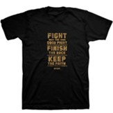 Fight the Good Fight Shirt, Black, Small, Unisex