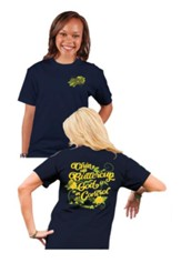 Chin Up Buttercup, God Is In Control Shirt, Navy Blue, 4X