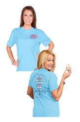 All Signs Point to Jesus Shirt, Sky Blue, XXX-Large