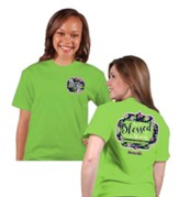 Too Blessed To Stress Shirt, Lime Green, Large