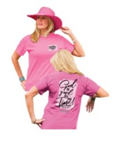 God Is Good All the Time Shirt, Azalea, Large
