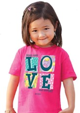 Love One Another Shirt, Pink, Toddler 4