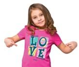 Love One Another Shirt, Pink, Youth Small