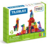 Magformers Rainbow Tiles, 104 Piece Set