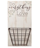 Do Everything In Love Wall Basket