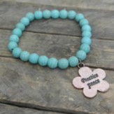 Turquoise Beaded Bracelet with Practice Peace Charm