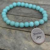Turquoise Beaded Bracelet with Scatter Joy Charm