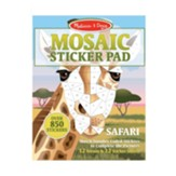 Mosaic Sticker Pad, Safari Animals