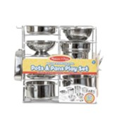 Deluxe Stainless Steel Pots and Pans Play Set